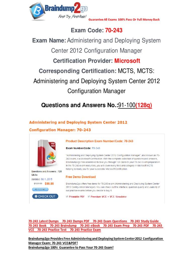Freebraindump2go 70 243 Study Guide Download 91 100 Active