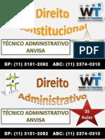 Curso Preparatório Concurso Anvisa - Técnico Adminsitrativo