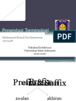 Presentasi Terminologi