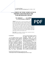 Assessment of Toxic Substances in Freshwater Fish From the Tajo River Basin (Spain)