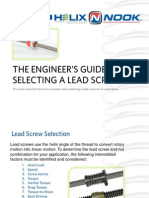 Lead Screw Selection