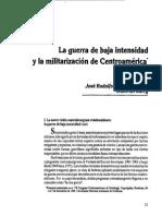 Guerra de Baja Intensidad en Centroamerica y El Caribe