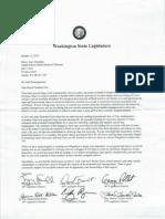 Legislators' letter