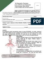 Ficha de Inscripción Danza