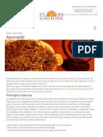 Ayurveda | El Arte de Vivir Argentina