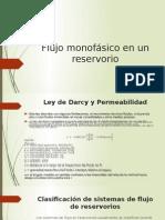 Flujo Monofásico en Un Reservorio