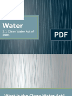 Clean Wrewtertater Act