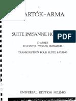 Bartok Arma Suite Paysanne PNO