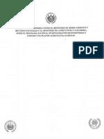Acuerdo Interministerial Entre El Ministerio de Medio Ambiente y Recursos Naturales y El Ministerio de Agricultura y Ganadería.