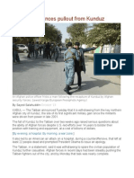 Taliban Announces Pullout From Kunduz