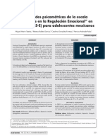 Propiedades Psicométricas de La Escala DERS-E Para Adolescentes Mexicanos