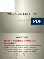 Wages Calculation