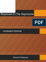 the 1930s responses to the great depression