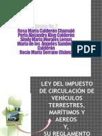 Ley Del Impuesto de Circulación de Vehículos Terrestres