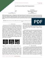 Brain Tumour Extraction Based on Segmentation