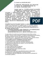 Regulament selectare administrator SC REGIO INTEGRAL SRL