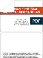 (Kelompok 8) Bab 9 Penulisan Butir Soal Untuk Tes Keterampilan Ppt Fix