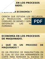Presentación_economía en Los Procesos de Maquinado