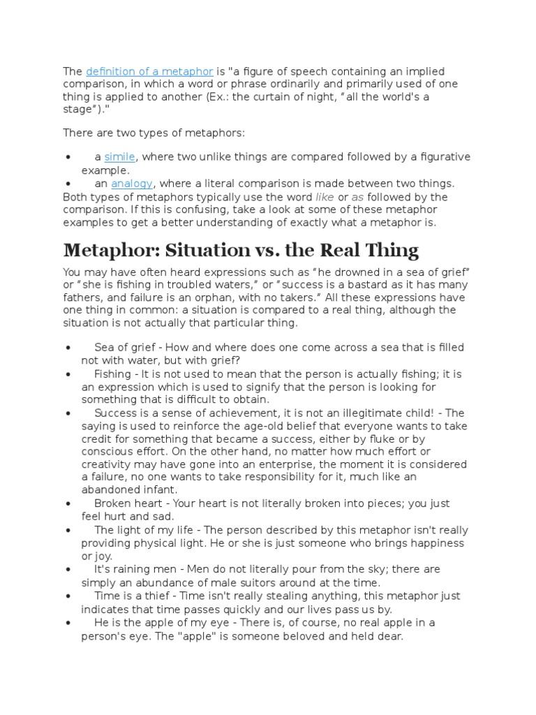 Metaphors Metaphor Analogy