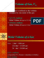 Molar Volume of Gas, VM
