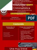 El Lugar de La Investigación Criminalística - 14 de Mayo de 2015