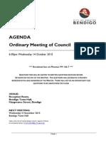 Council Agenda 14 October 2015