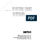 Impact of Cultural Change in Retailing