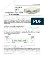 A Key Component in DWDM System – Wavelength-Converting Transponder