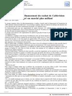 20151001 - AFP - Altice Boucle Le Financement Du Rachat de Cablevision Malgré Un Marché Plus Méfiant