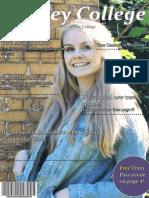 indesign college magazine ellie cover  contents