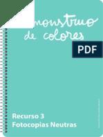 Recurso Monstruo Colores Fotocopias