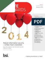 BSI Update Standards January 2014