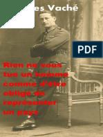 Jacques Vache Lettres de Guerre
