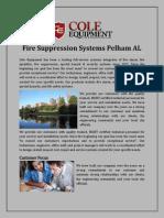 Fire Suppression Systems Pelham AL