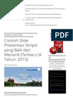 Contoh Slide Presentasi Skripsi Yang Baik Dan Menarik (Terbaru Di Tahun 2015)