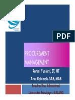5 Procurement Management