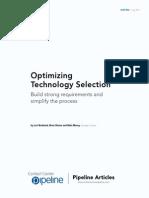 Optimizing Technology Selection