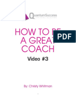 How to Coach Effectively