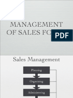 Management of Sales Force