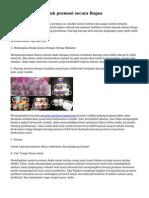 Tips Membeli Produk promosi secara Bagus