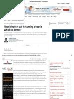 Fixed Deposit vs Recurring Deposit - Moneycontrol