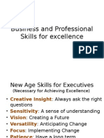 Business and Professional Skills for Excellence