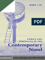 John J. Su-Ethics and Nostalgia in the Contemporary Novel-Cambridge University Press (2005)