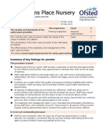 Fitzsimmons Place Nursery - Latest Ofsted Report