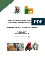 Elaboración de Un Programa de Calidad e Inocuidad de Alimentos Enero 2012
