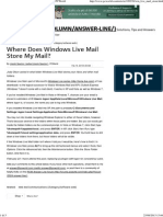 Where Does Windows Live Mail Store My Mail PCWorld