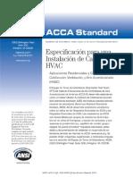 ANSI-ACCA 5 QI-2010_Especificación Para Una Instalación de Calidad HVAC