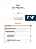Gestion de Aplicaciones y Diagnostico de Requerimientos