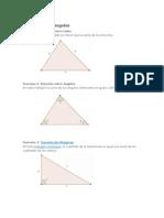 Teoremas en Triángulos