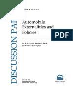 Automobile Externalitites